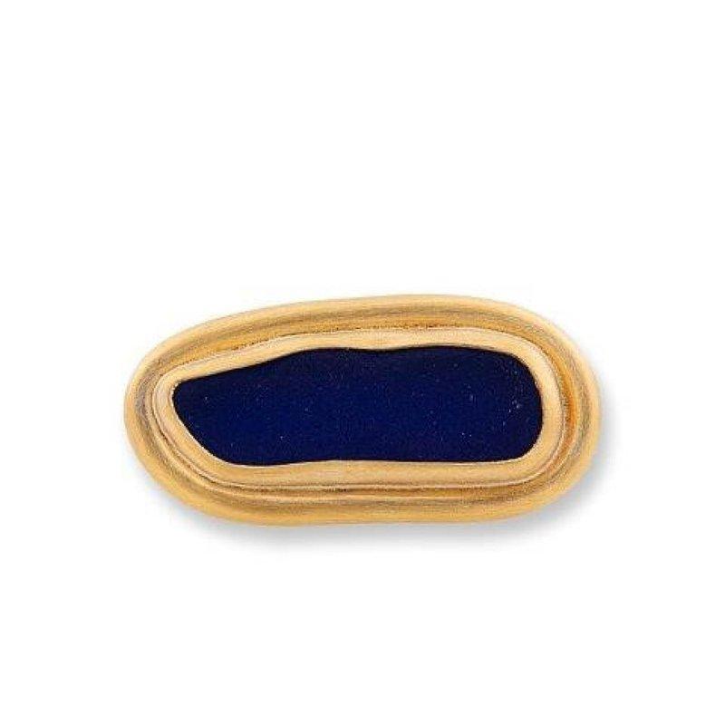 Lika Behar Horizontal Blue Vineyard Seaglass Ring