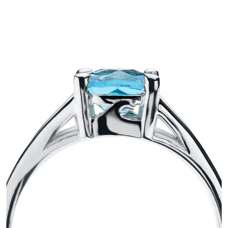 Wave Collection ring with blue topaz