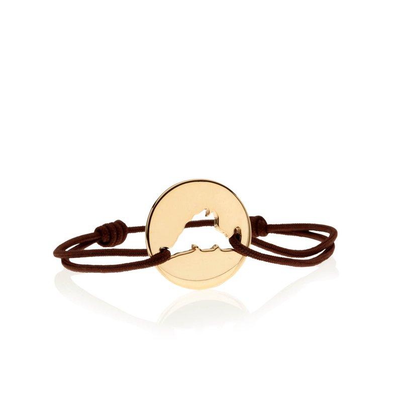 Classic 14K Gold Island Tie bracelet Large