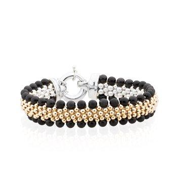 Dovera Reversible Onyx Woven bracelet