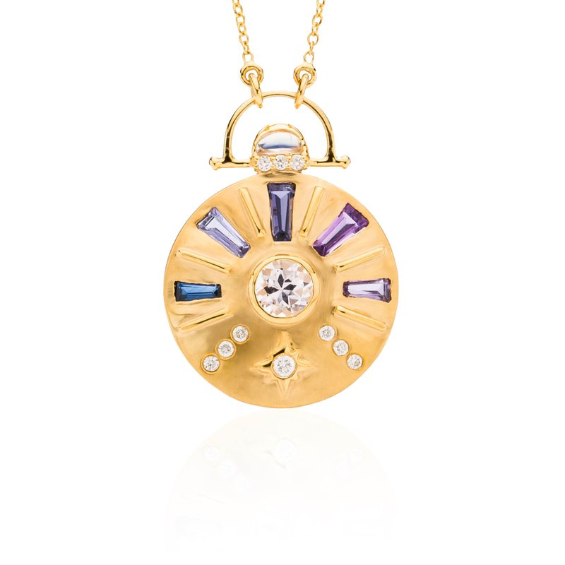 Sun Dial necklace by Theresa Kaz