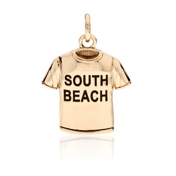 South Beach T-shirt charm