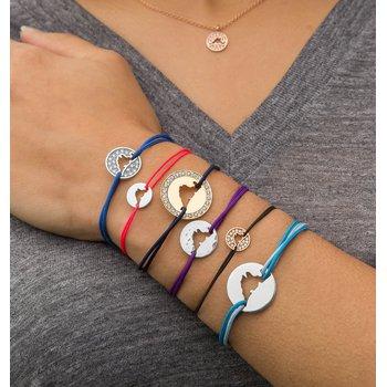 Classic 14K White Gold Island Tie bracelet Medium