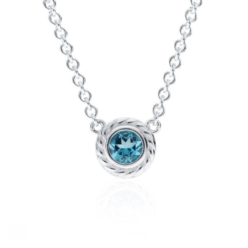Rigging Collection Blue Topaz Necklace