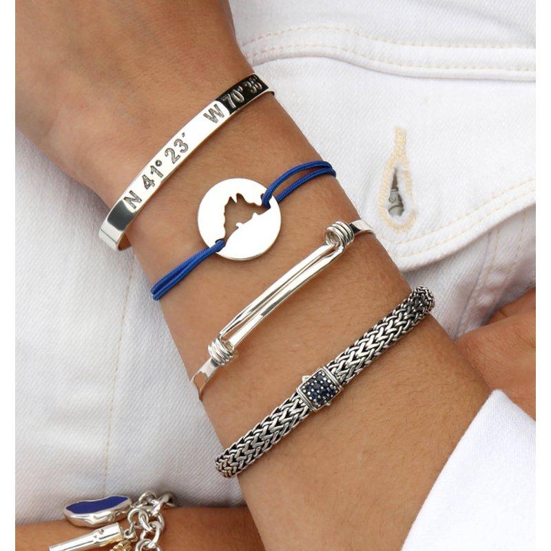 Martha's Vineyard Coordinates Cuff bracelet