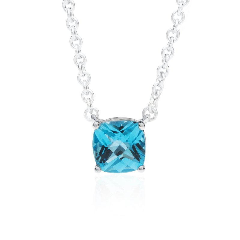 Wave Collection large pendant with blue topaz