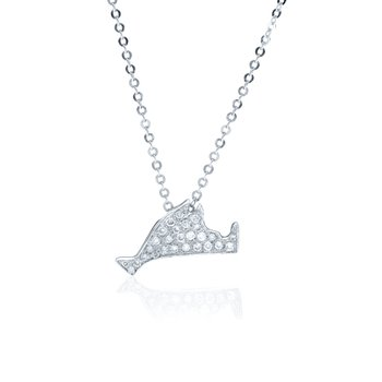 Small Pave Diamond Martha's Vineyard necklace