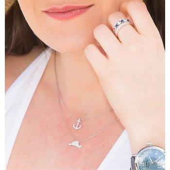 Small Pave Diamond Martha's Vineyard necklace
