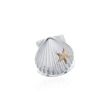 Chilmark Scallop Shell ring with 14k Starfish