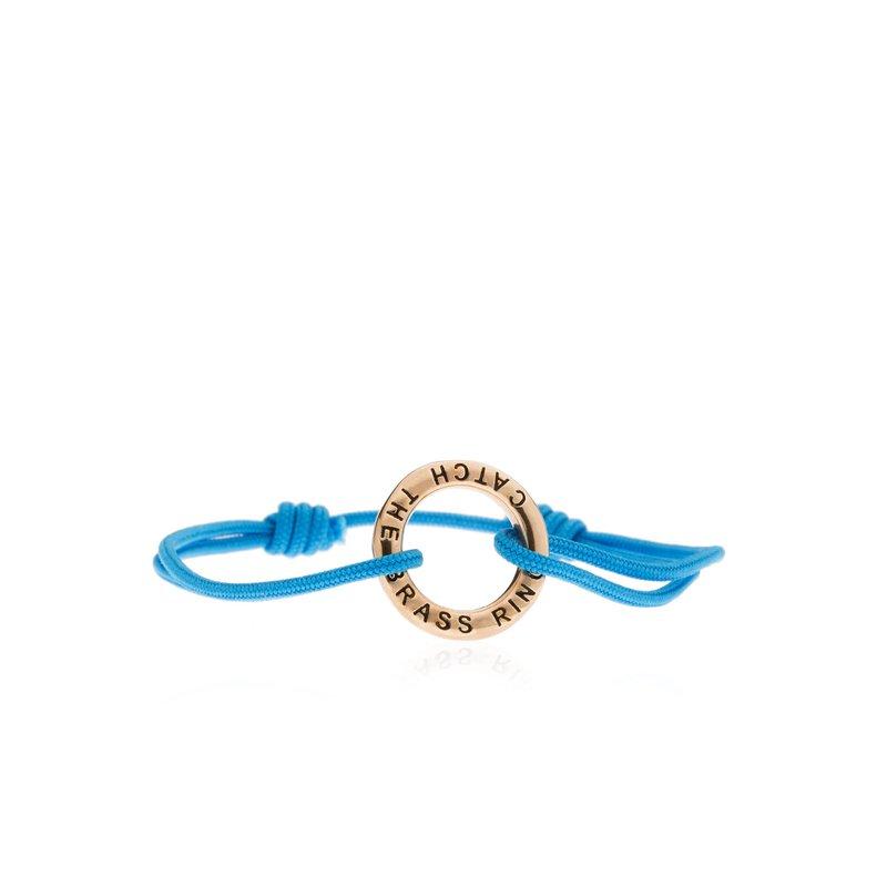 Catch the Brass Ring Tie bracelet