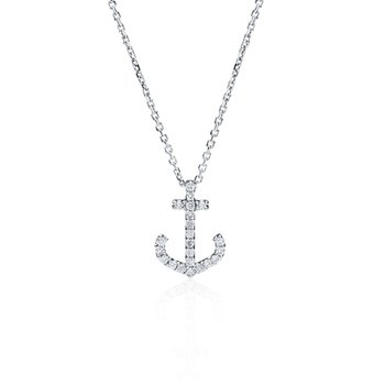 Mini Diamond Anchor necklace