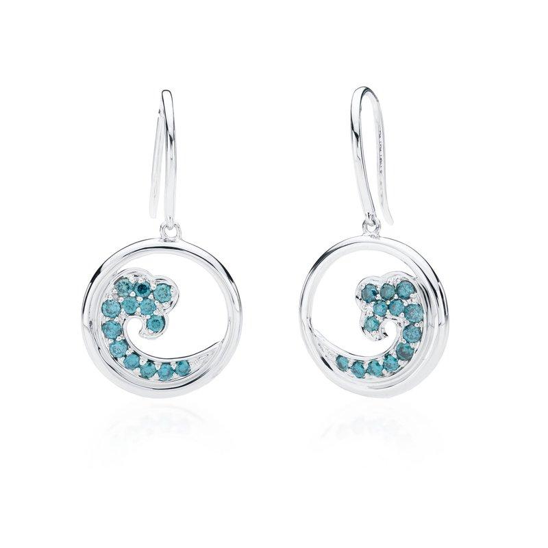 Blue Diamond Wave earrings