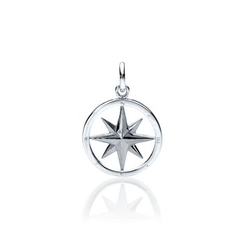 Compass Rose Round charm