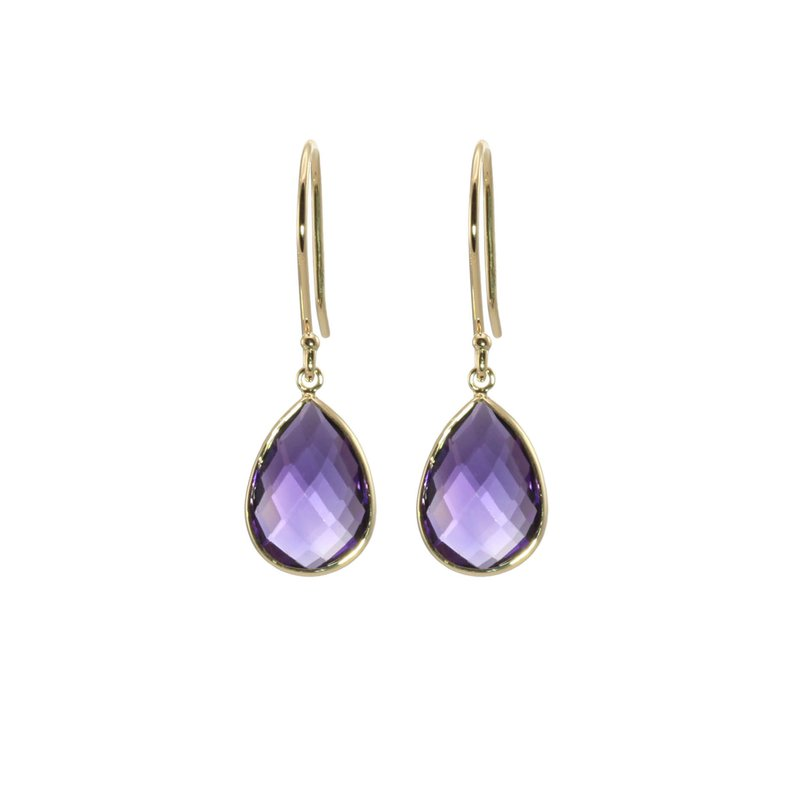 Tear Drop Amethyst Earrings
