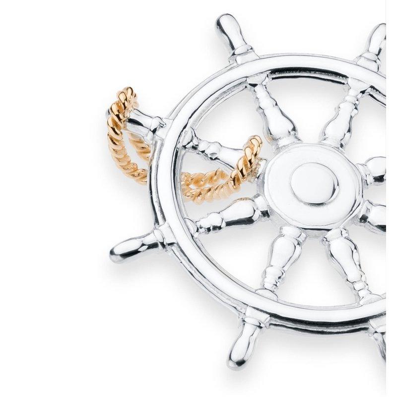 Charles W Morgan Ship's Wheel pendant