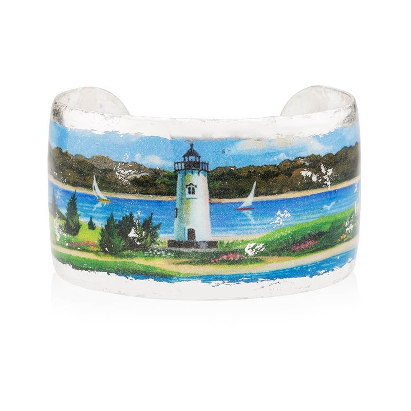 Edgartown Lighthouse Cuff featuring the artwork of Margot Datz