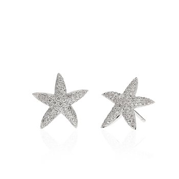 Pave Diamond Starfish earrings