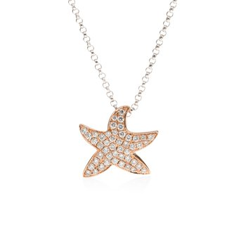 Diamond Pave Starfish necklace