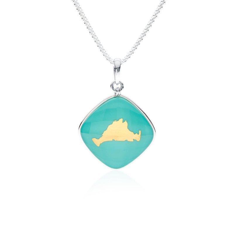 Martha's Vineyard turquoise layered  pendant