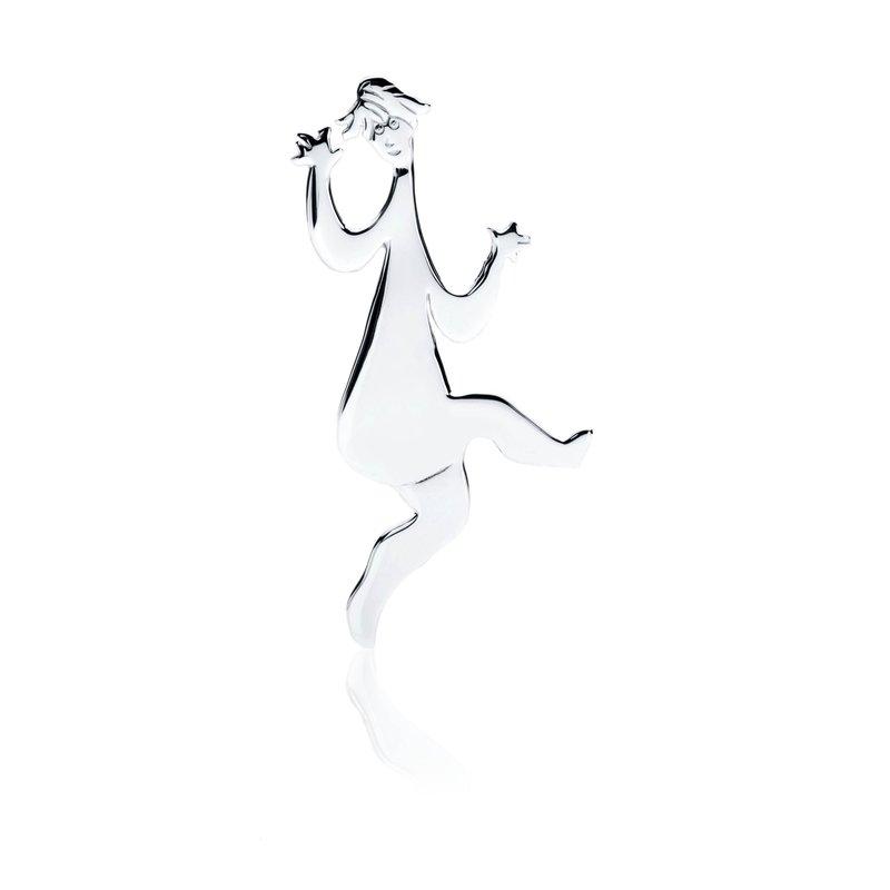 Dancing Lady pin pendant