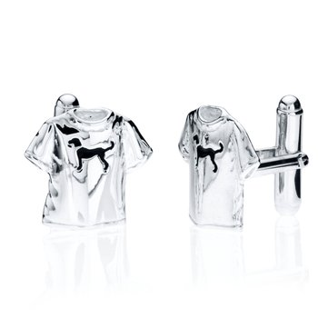 Black Dog T-shirt cufflinks
