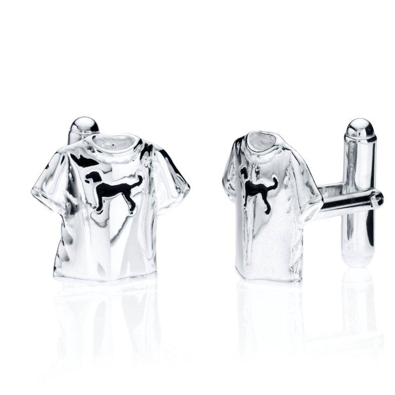 Black Dog T-shirt cufflinks
