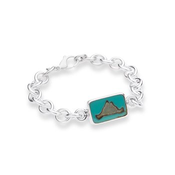 Martha's Vineyard Tile Oval Link bracelet