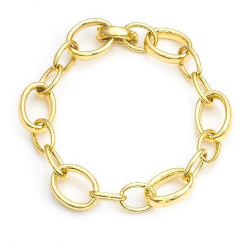 14K Mixed Link Bracelet