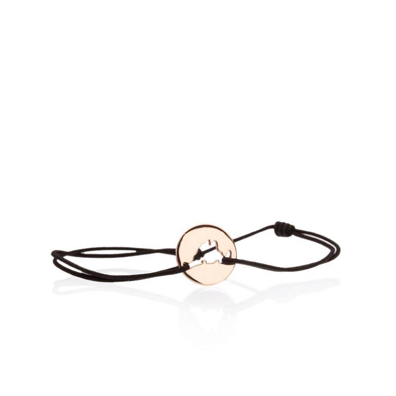 Classic 14K Rose Gold Island Tie bracelet Small