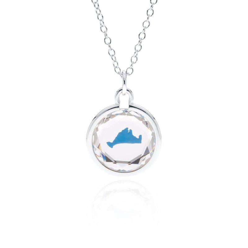 Swarovski Crystal with blue enamel Martha's Vineyard necklace