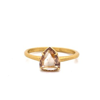 18K Pear Shaped Champagne Diamond