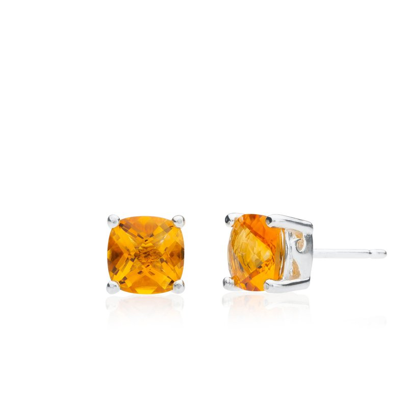Wave Collection large earrings with citrine