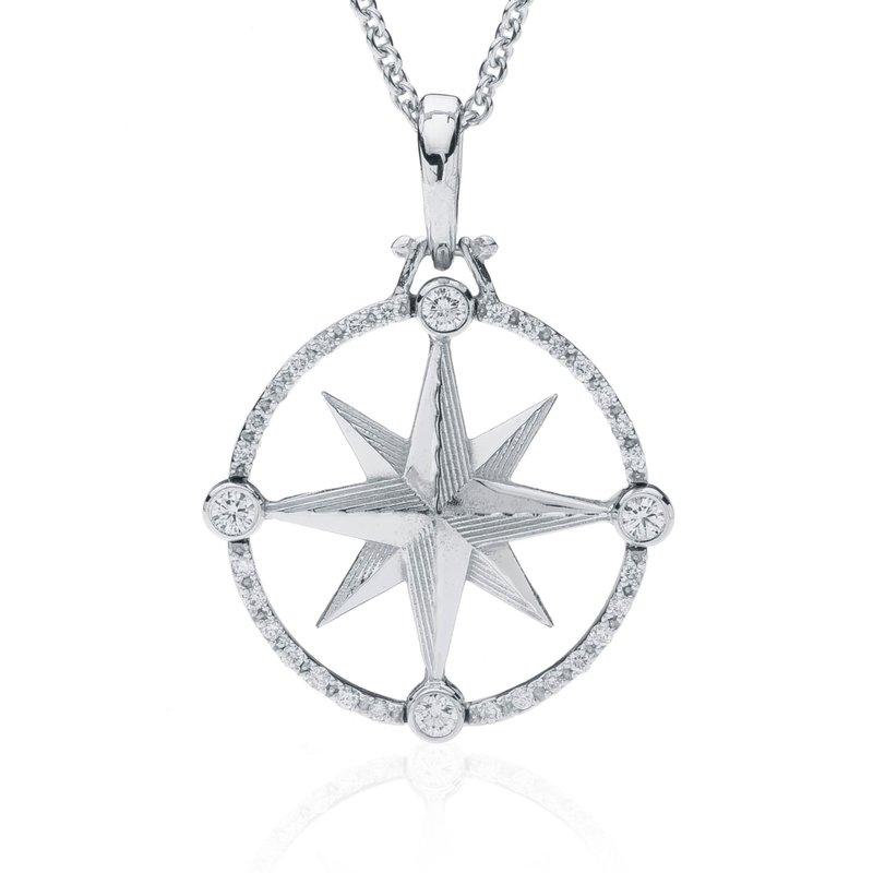 Compass Rose pendant with Diamonds