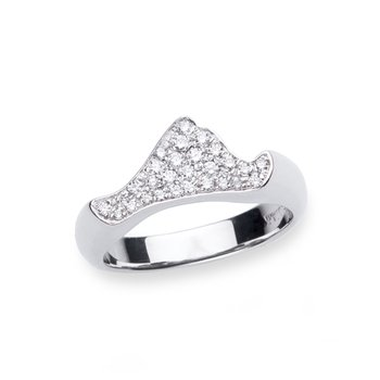 Contemporary Pave Diamond Martha's Vineyard ring