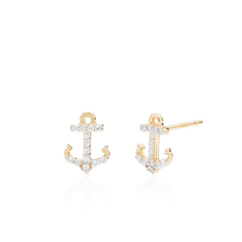 Mini Diamond Anchor earrings