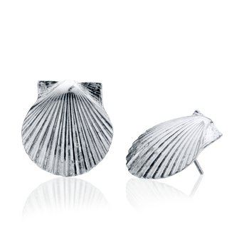 Chilmark Scallop Shell large earrings
