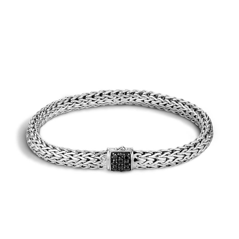 John Hardy Classic Small chain bracelet with Black Sapphires