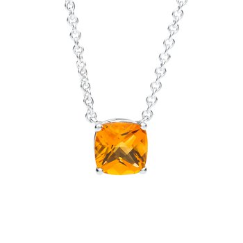 Wave Collection large pendant with citrine
