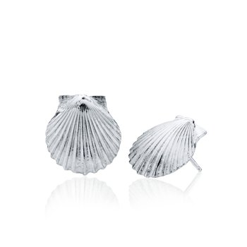 Chilmark Scallop Shell medium earrings