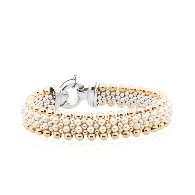 Dovera Reversible Golden Pearl Woven bracelet