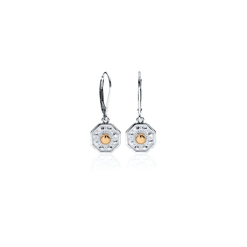 Tiny Sailor's Valentine Leverback earrings