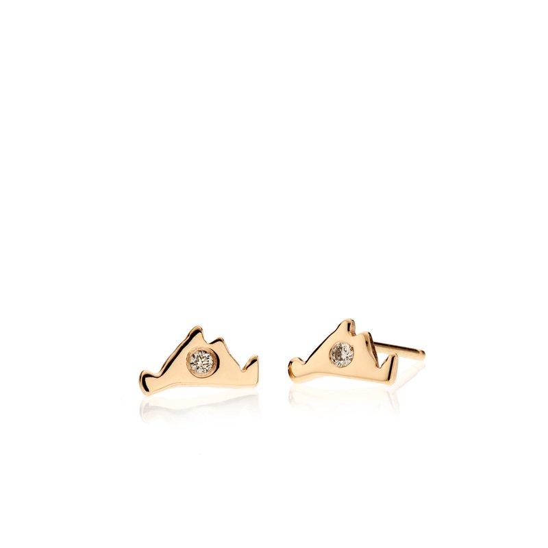 Teeny Martha's Vineyard earrings with diamonds