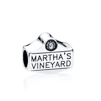 Martha's Vineyard Sign bead