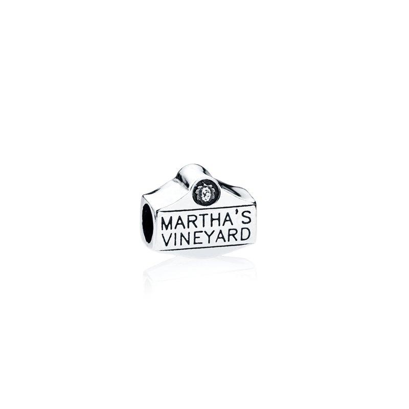 Martha's Vineyard Sign bead