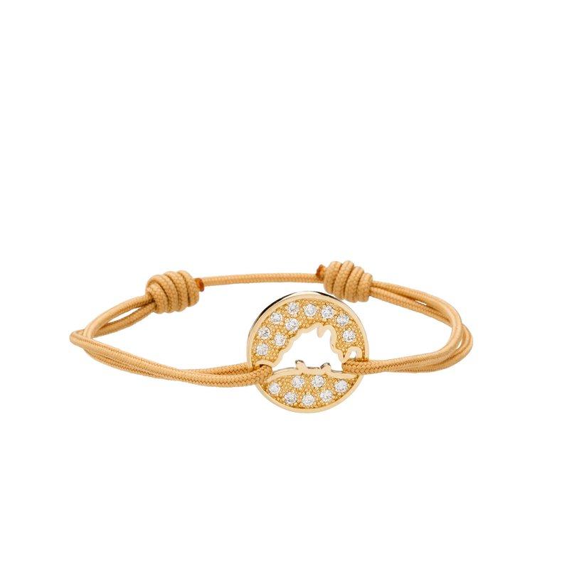 Pave Diamond Island Tie Bracelet Medium