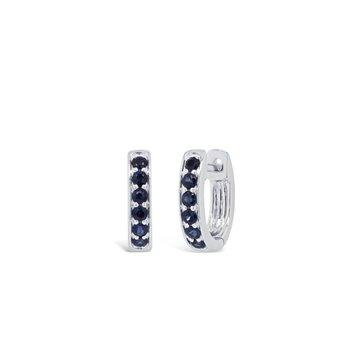 Sapphire Huggie Earrings