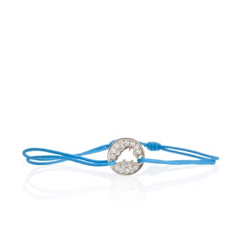 Pave Diamond Island Tie Bracelet Small