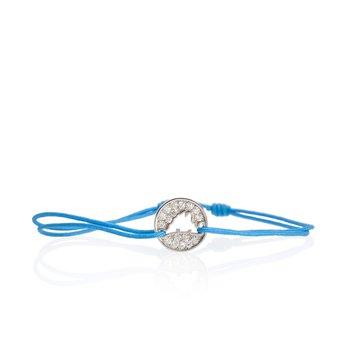 Pave Diamond Island Tie Bracelet Small
