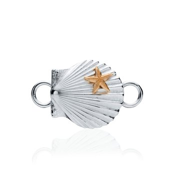Chilmark Scallop Shell with Starfish changeable bracelet top