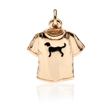 Black Dog T-shirt charm
